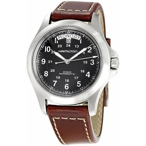 Hamilton H64455533 - Reloj para hombre, correa de cuero color marrón