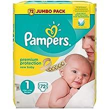 Pampers Caja de pañales jumbo para recién nacido, ...