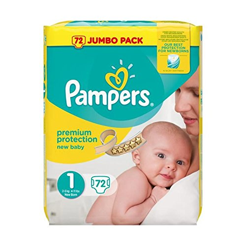 Pampers New Baby – Paquet de 72 couches – Taille 1