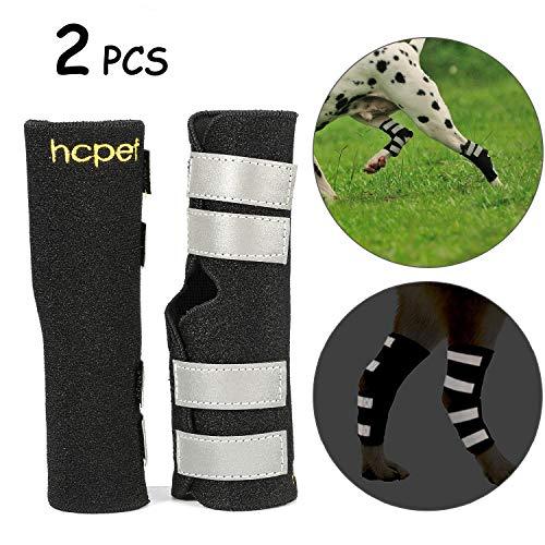 Hcpet Bandagen für Hunde, 1 Paar Bein-Sprunggelenk-Wrap schützt mit Sicherheitsreflexgurten für Verletzungen und Verstauchungen, Wundheilung und Verlust der Stabilität vor Arthritis (S)