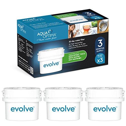Aqua Optima Evolve 3 month pack, 3 x 30 day water filters - Fit BRITA* Maxtra* (not Maxtra+*) - EVS301