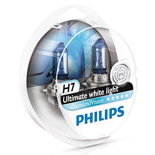 Preisvergleich Produktbild Philips Diamond Vision 5000K H7 Auto-Scheinwerfer-Birnen (Twin Pack) 12972DVS2
