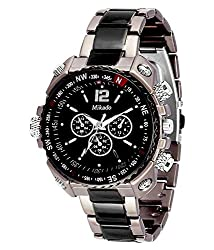 Mikado Analogue Black Dial Men's Watch -RS2