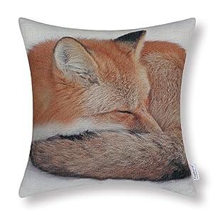 Euphoria Home Dekorative Kissenbezüge Baumwolle Leinen Mischung Wilder Fuchs Verschiedene Stile 45 X 45cm - Fox Schlaf