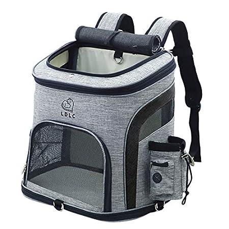 HYZH Groß Haustier Rucksäcke haustiertragetasche Atmungsaktive Outdoor Faltbarer für Hunde und Katzen 40x37x28cm
