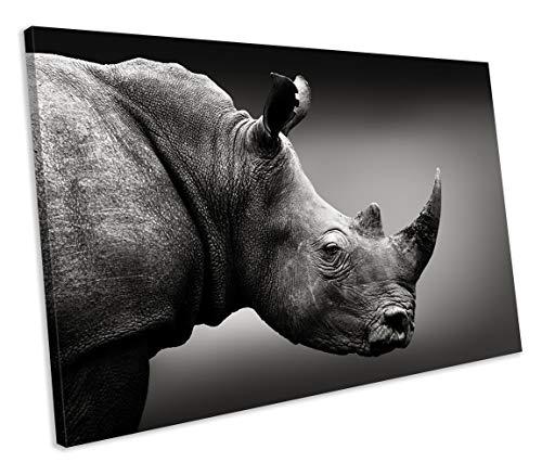chuanghe3943 Unframe Canvas Printing Rhino Animal Wildlife Nature Ready to Hang Canvas Print Bedroom Bathroom Decoration Wall Art - Rhino Canvas Print