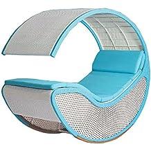 Imitazione bambù - rattan vimini sedia a dondolo / longue / relax sedia / poltrona (Outdoor Glider Cuscini)