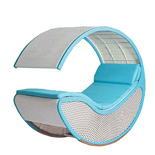 Imitation bambou - rotin osier rocking chair / chaise à bascule / fauteuil à bascule / longue / relax fauteuil / relax chaise / siège
