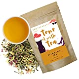 Tea Treasure | Slimming Whole Leaf Tea | Natural Ingredients: Moringa, Seabuckthrone, Licorice, Ginger, Cinnamon, Rose, Wellness Tea | meltdown saturated fat naturally , contains proteins, vitamins, and minerals, Keeps Metabolism High | Loose Leaf tea (50 Gm)
