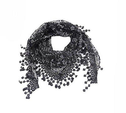 Butterme lace nappa puro burnout floreale delle donne della stampa del triangolo sciarpa collo sciallato wrap eleganti sciarpe wraps