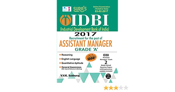 IDBI Bank Assistant Manager Grade A Exam Books: Amazon in