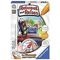 """Ravensburger-00525-Tiptoi-Spiel-Ratespa-auf-Reisen Ravensburger tiptoi 00525 – """"Ratespaß auf Reisen"""" / Spiel von Ravensburger ab 4 Jahren / Praktisch für Unterwegs – Sachwissen zu den Themen Straßenverkehr und Verkehrssicherheit -"""