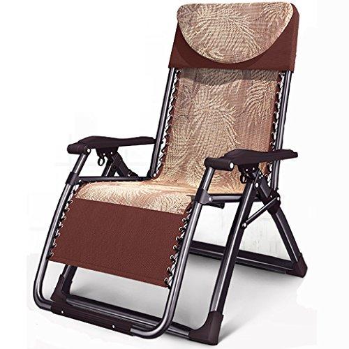 Vintage Office Lounge Stühle Braun Schwerelosigkeit Klappstuhl Mittagspause Schaukelstuhl Couch Siesta Bett Faltbares Bett Einzelbett Siesta Stuhl Haushalt Beach Chair mit Cup Holders (4 Beach-chair-position)