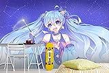 WYH-YW Carta da Parati Anime Hatsune Miku Moderno Wallpaper 3D Camera da letto TV Parete Soggiorno Camera dei bambini Mural Decorazione 79'x55'/200x140cm(W×H)