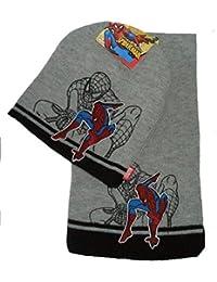 Winterset Spiderman Mütze+Schal grau