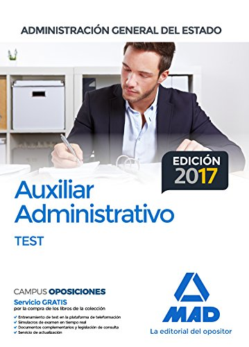 Auxiliar Administrativo de la Administración General del Estado. Test por Joaquín Martínez del Fresno