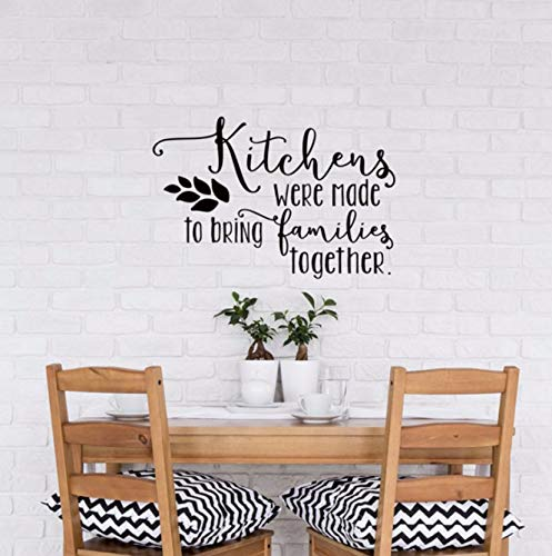 Dalxsh Küche Wand Dekor Wandaufkleber Zitate Küchen Wurden Gemacht, Um Familien Zusammen Vinyl Art Esszimmer Wandtattoo Hot 40X60Cm Zu Bringen