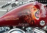 Harley Davidson - Airbrush (Tischkalender 2017 DIN A5 quer): Amerikas Motorradlegende Nr.1 (Geburtstagskalender, 14 Seiten ) (CALVENDO Kunst)