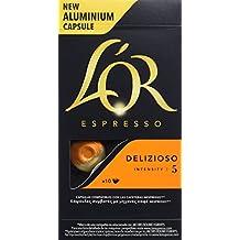 L'Or Café Espresso Delizioso | 4 Paquetes x 10 cápsulas - Total: 40 cápsulas