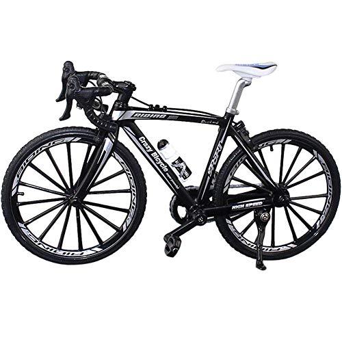vap26 Sammlung Dekor Diecast Toys Mini Bend Fahrrad Modell Rennrad Mountainbike(17.5 * 12.5cm,Schwarz)