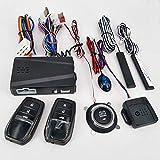 KKmoon 12V Car Alarm Passive Keyless One Button Start Remote Control System Auto Central Lock Push Button Start Stop Automotive PKE for Toyota