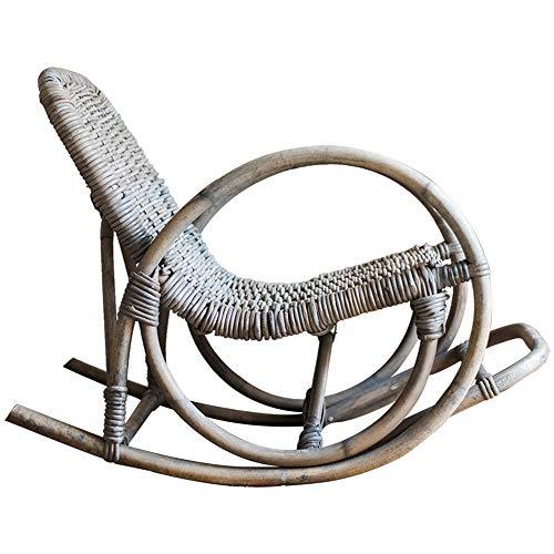 Wicker Deck (NBRTT Rattan Schaukelstuhl, Wicker Schaukelstühle, Relax Sitz Liege, Stuhl Indoor Outdoor Liege Liege Garten Hof Couch Patio Möbel Kaffee Veranda)