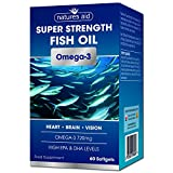 Natures Aid Super Strength Fish Oil - Omega-3 - 60 Softgel by Natures Aid