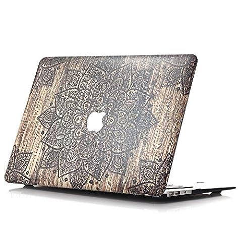 Coque MacBook Pro 15 2016, L2W motif de motif design en dentelle Coque de protection en coque dure Coque de protection pour réveillette MacBook Pro 15 pouces avec modèle multi-touch modèle A1707 (USB-C) (sortie 2016) - LS11