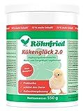 Röhnfried Kükenglück Aufzuchtpräparat (550 g), Kükenfutter mit Vitaminen als Pulver, Aufzuchtfutter für Hühner, Enten, Gänse, Truthühner & Geflügel