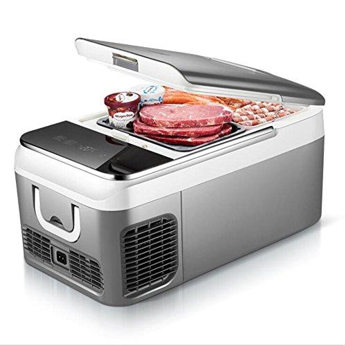 Car Refrigerator Auto Kühlschrank Gefrierschrank Kühler Portable 18L AC 12-24V Für Auto Quick Refrigeration Bis -20 Deg.C,Silver