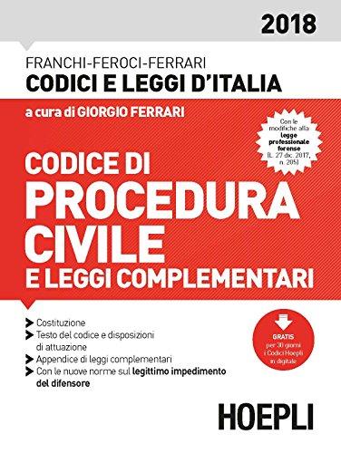 Codice di procedura civile e leggi complementari 2018