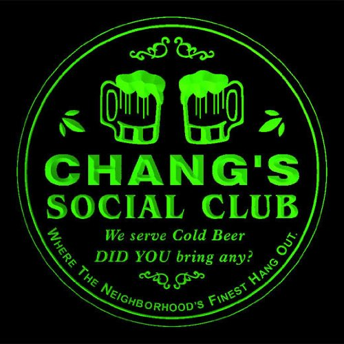 4x-ccpz0949-g-changs-social-club-bar-beer-3d-engraved-drink-coasters