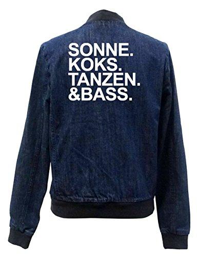 Sonne Koks Tanzen & Bass Jeans Bomberjacke Certified Freak-XXL