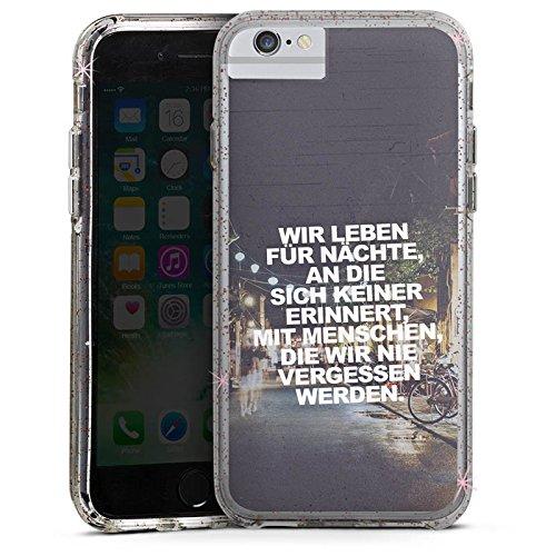 Apple iPhone 6 Plus Bumper Hülle Bumper Case Glitzer Hülle Party Vie Life Bumper Case Glitzer rose gold