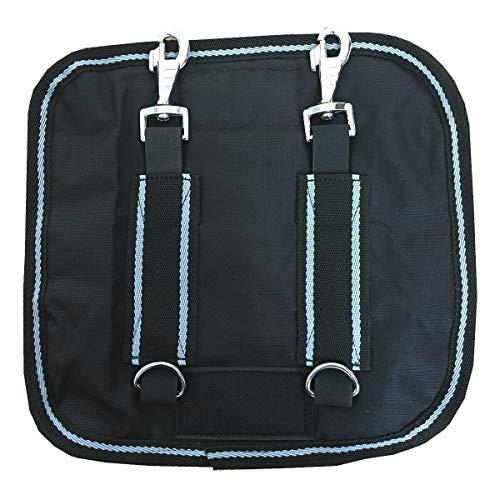 netproshop Pferde Zubehör Regendeckenerweiterung Verlängerung des Brustlatz, Farbe:schwarz