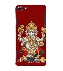 Lord Vinayaka Swamy Vigneswara 3D Hard Polycarbonate Designer Back Case Cover for Micromax Canvas Selfie 3 Q348