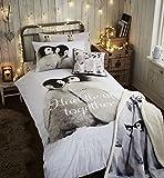 Catherine Lansfield Snuggly Pinguine Bettwäsche Set - Mehrfarbig, Single