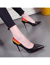 KHSKX-Mujer Zapatos De Tacón Alto Zapatos Nuevos.En Primavera Y Otoño Boca Superficial Con Una Multa Señaló Shoes...
