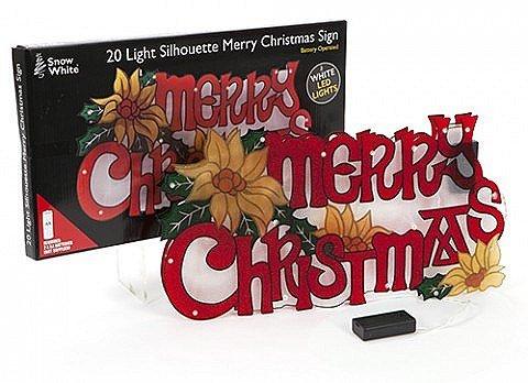 rohe Weihnachtsdekoration Silhouette Zeichen mit LED-Leuchten (Frohe Zeichen)