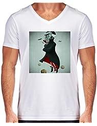 Camiseta V Cuello para Hombre - Vampiro by GiordanoAita