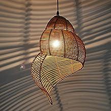 MSAJ Das Mediterrane Restaurant Decke Led   Lampen, Rattan, Bambus Muschel  Kronleuchter Lampen