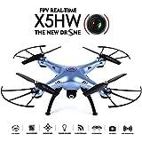 GoolRC X5HW Drone con Cámara Wifi FPV Modon sin Cabeza 360° Eversion RC Quadcopte (Azul)