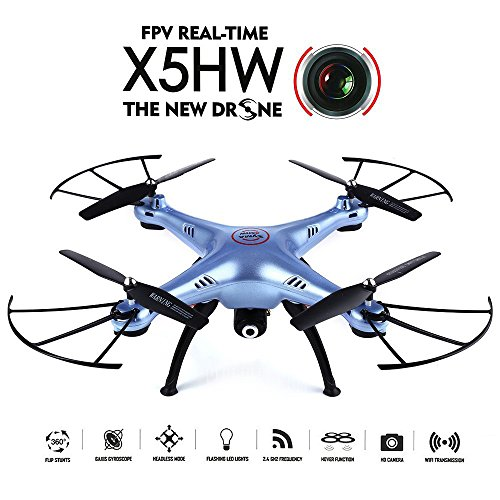 Goolsky SYMA X5HW Wifi FPV 0.3MP Kamera RC Quadcopter mit 360 ° Eversion CF Modus Hover Funktion