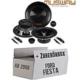 Lautsprecher Boxen Musway ME6.2C - 16cm System Auto Einbauzubehör - Einbauset für Ford Fiesta MK7 Front Heck - JUST SOUND best choice for caraudio