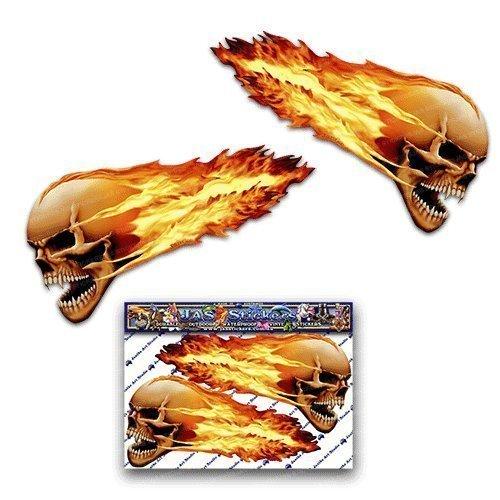 Flammende Schädel-kleine furchtsame lustige Auto-Aufkleber-Motorrad-Vinylabziehbilder ST00016TP_SML - JAS Aufkleber