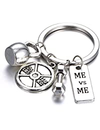 595d986cc34 Gmai Fitness Gym Porte-clés avec plaque de citations