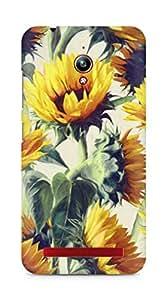 Amez designer printed 3d premium high quality back case cover for Asus Zenfone Go ZC500TG (Sunflowers forever)