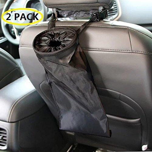 i-sure Auto Fahrzeug Rücksitz Kopfstütze Katzenstreu Trash Garbage Bag, waschbar Lecksicher Umweltfreundlich Garbage Bags (2Pack)