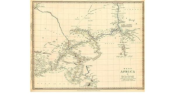 Nigeria W Early Explorers Routes Lake Chad Yariba Houssa Borgou