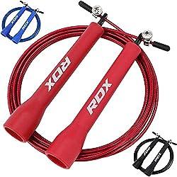 RDX Saltar La Cuerda MMA Boxeo Gimnasia Gimnasio Ajustable Gimnasio Acero Saltar Velocidad Perder Peso Saltar Metal Cable Entrenamiento Ejercicio Entrenamiento